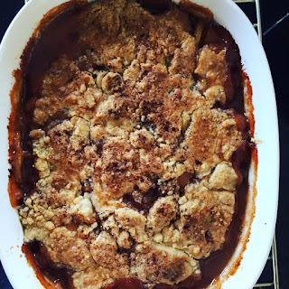 Old-Fashioned Bourbon Peach Cobbler