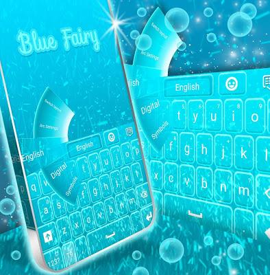 Blue Fairy For GO Keyboard - screenshot