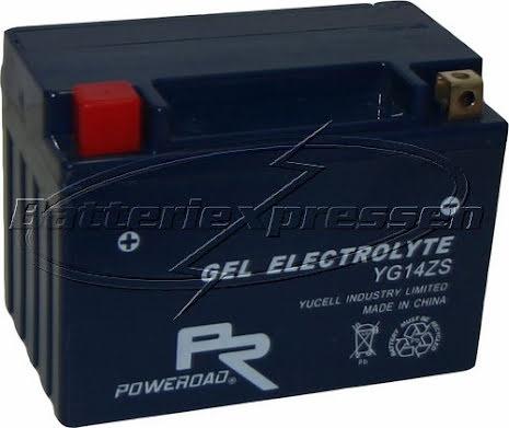 YTZ14S,YG14ZS batteri Gel12Ah