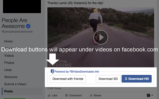 Social video downloader chrome web store social video downloader helps you download videos from facebookvimeo dailymotion download buttons will appear under videos ccuart Choice Image