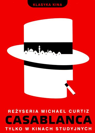 Przód ulotki filmu 'Casablanca'