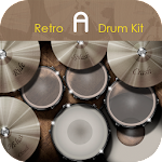 Retro A Drum Kit Icon