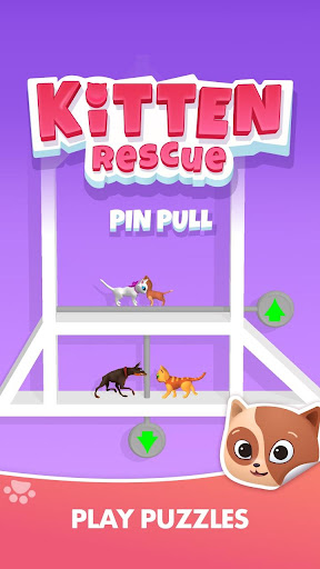 Kitten Rescue - Pin Pull apkpoly screenshots 4
