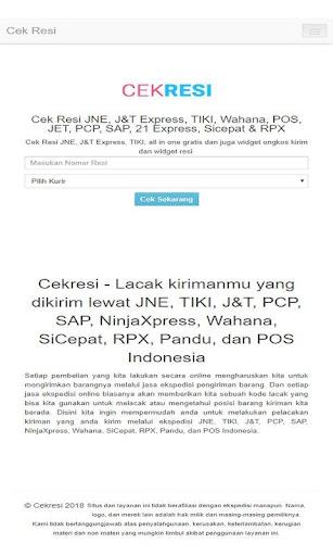 Cek Resi JNE JNT TIKI POS PCP RPX Wahana Sicepat 1.0 Apk Download ...