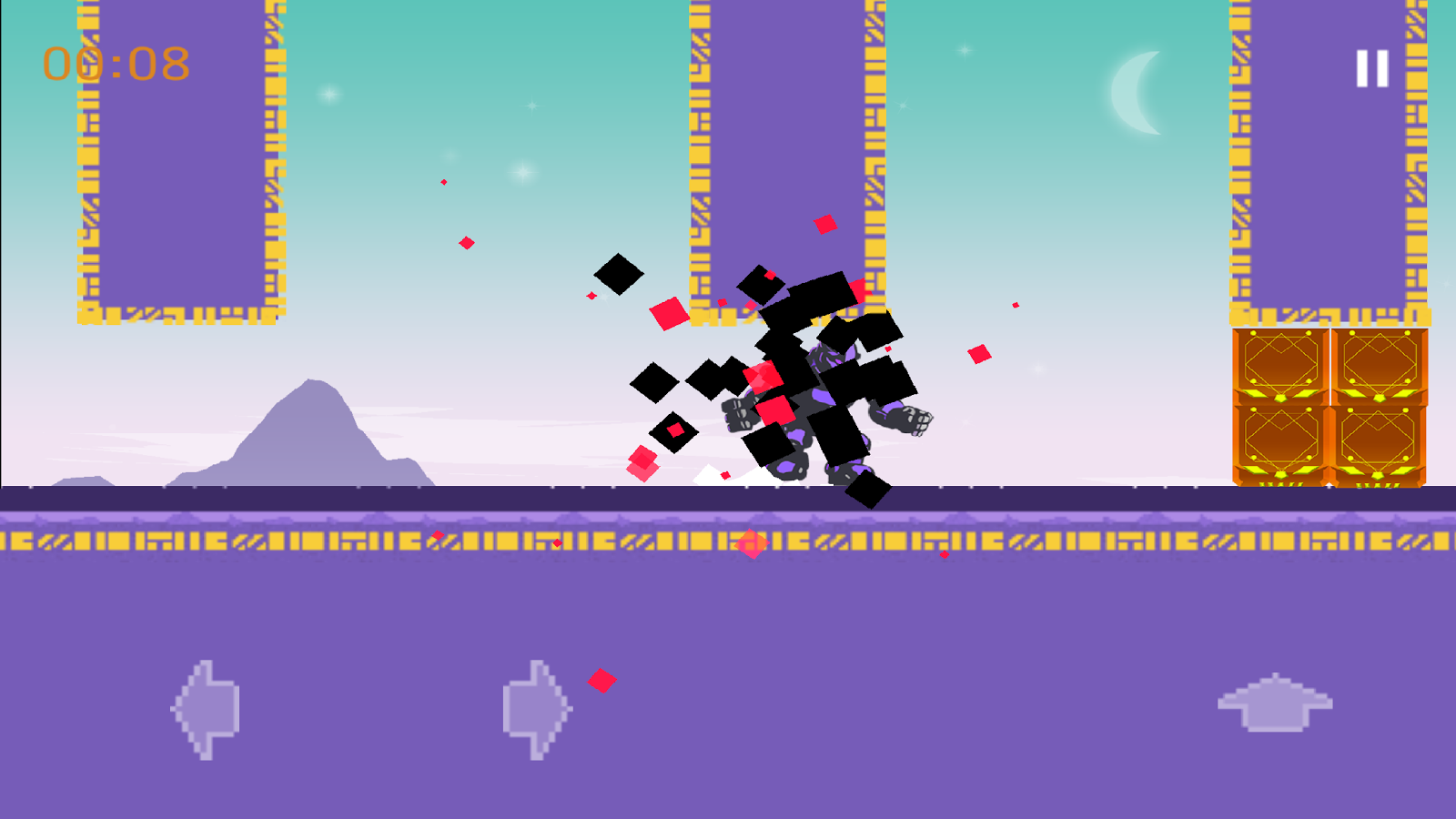 Hyper Glitch Fortress - Old School Platformer- screenshot