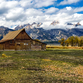 Storms Overhead at the Mormon Barns by Norma Brandsberg - Buildings & Architecture Public & Historical ( www.elegantfinephotography.com, award winning, nbrandsberg@gmail.com, photo, photographer, norma brandsberg, photography,  )