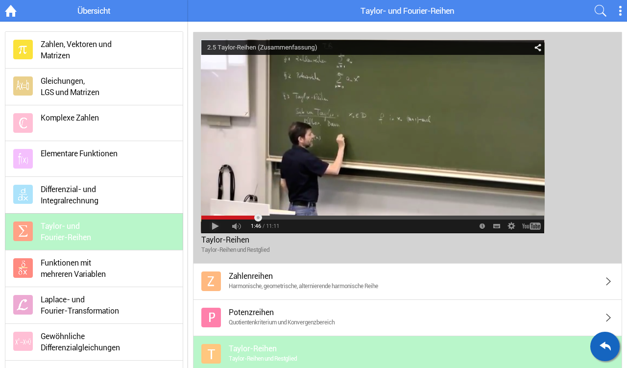 Mathe-Videos zum Studium (iMath Video)- screenshot