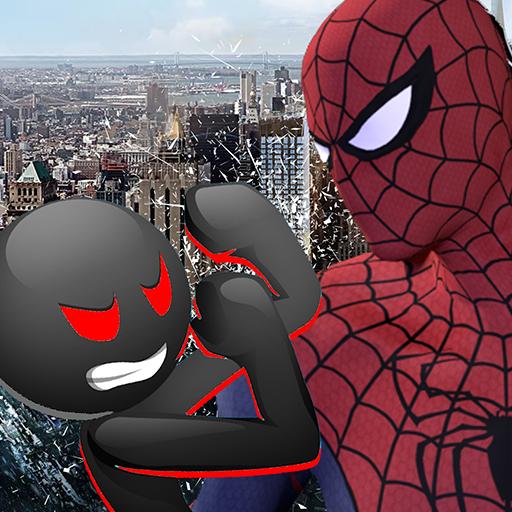 Spider vs Stickman Survival Battle