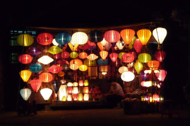Lantern making in Hoian