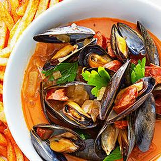 Spanish Mussels and Paprika Fries.