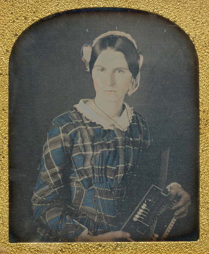 Woman with an Accordion daguerreotype