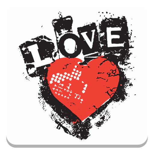 Sticker Set: Grunge Love