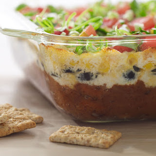 Warm 6-Layer Ranchero Dip with Kashi® Crackers