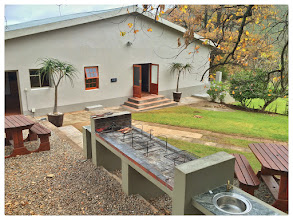 Photo: We haven't been idle this winter and took the initiative to do a few renovations & improvements to our large Farmhouse Erika which sleeps 20+ guests in 7 bedrooms. We improved the flow & entertainment area by installing double doors into the huge lounge from the great outside braai area which we built last year. Other improvements include the lounge which we tiled, several bedrooms have new carpeting (those without Oregon floors of course ) and one bathroom was renovated. More images to follow...