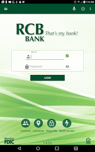 RCB Bank Mobile Banking- screenshot thumbnail
