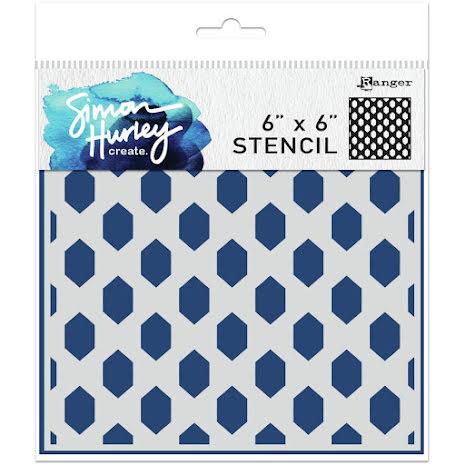 Simon Hurley create. Stencils 6X6 - Honey Hive