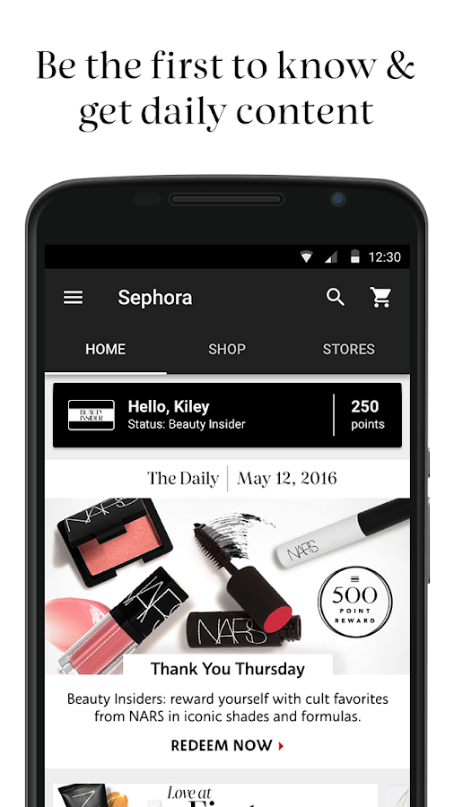 Sephora- screenshot