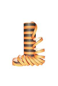 Serpentin, svart/orange