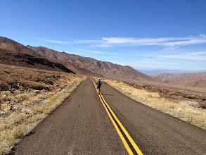 Photo: Road running down Wildrose Canyon