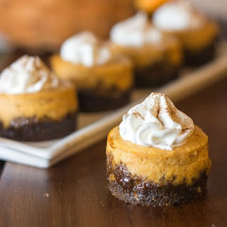 Mini Pumpkin Cheesecake with Gingersnap Crust