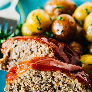 Slow Cooker Meatloaf and Potatoes with Garlic Butter Recipe