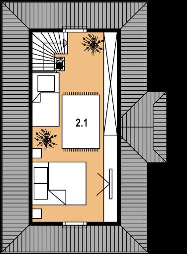 LEG-1 z bali - Rzut poddasza