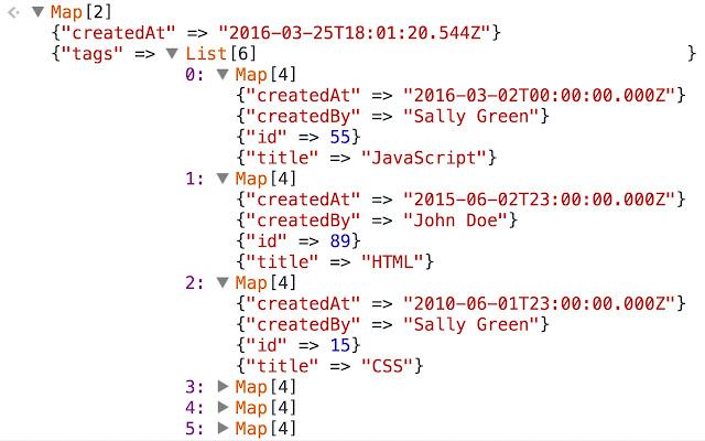 Immutable.js Object Formatter
