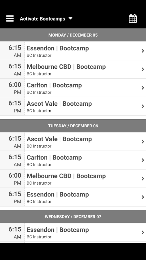 Activate Bootcamps- screenshot