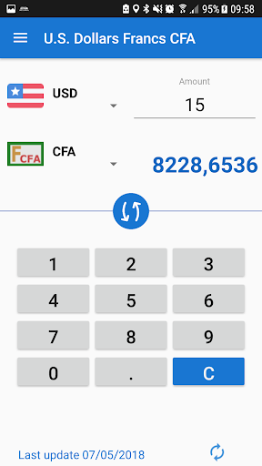 U S Dollar To Franc Cfa Usd Xaf Converter Screenshot 2