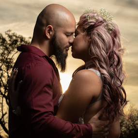Couple by Lood Goosen (LWG Photo) - People Couples ( love, loving, couple, woman, sunset, couples, man, kiss )