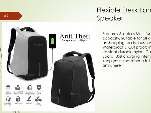 Flexible Desk Lamp With Speaker Customize Bag For Office Use School Usage Outdoor And More