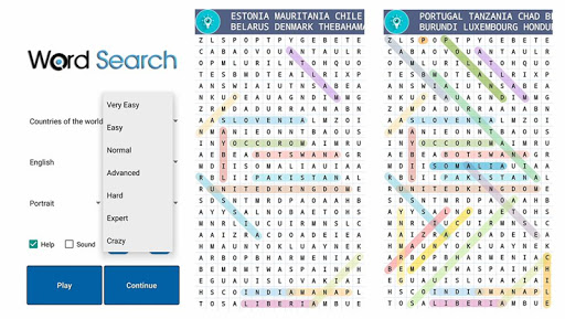 Word Search Crossword Puzzle