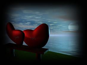 Photo: Dos corazones rojos