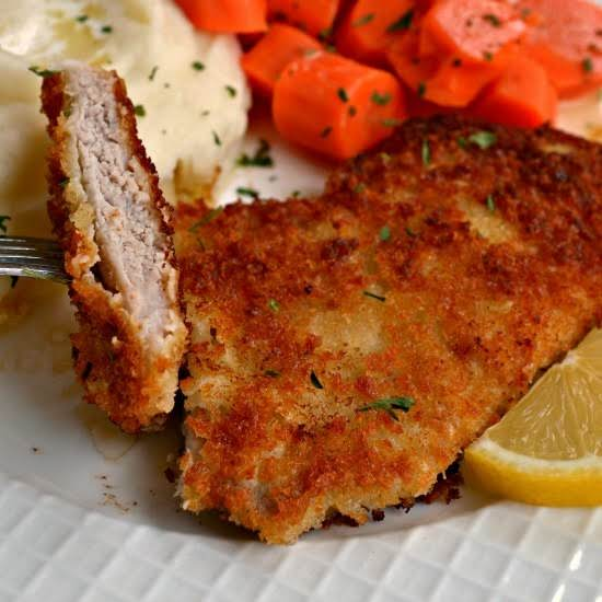 Family Friendly Delicious Crispy Pork Schnitzel Is Quick And Easy To Make With Wholesome Pantry Ingredients That You May Already Have On Hand.