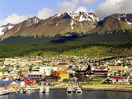South park:  Argentina's Ushuaia, which was once a port and penal colony, now serves as a springboard for adventurers exploring the Tierra del Fuego national park.Picture: PINTEREST