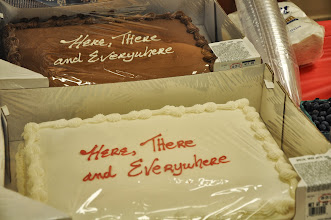Photo: Thanks to Bill Hayes for getting cakes for everyone to enjoy later at the break.