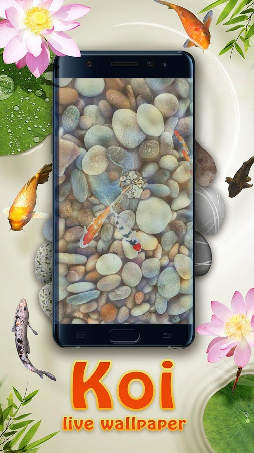 Koi pond 3d live wallpaper android apps on google play for Koi fish pond live wallpaper
