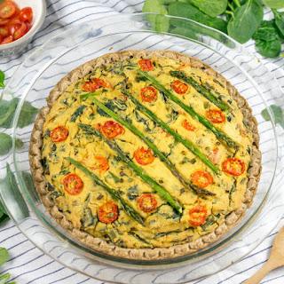 Veggie Chickpea Tofu Vegan Quiche.