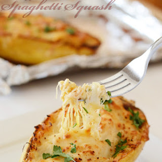 Cheesy Buffalo Chicken Spaghetti Squash