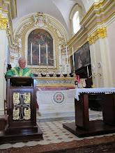Photo: 13.10.13Rabat : chapelle StPublius, messe