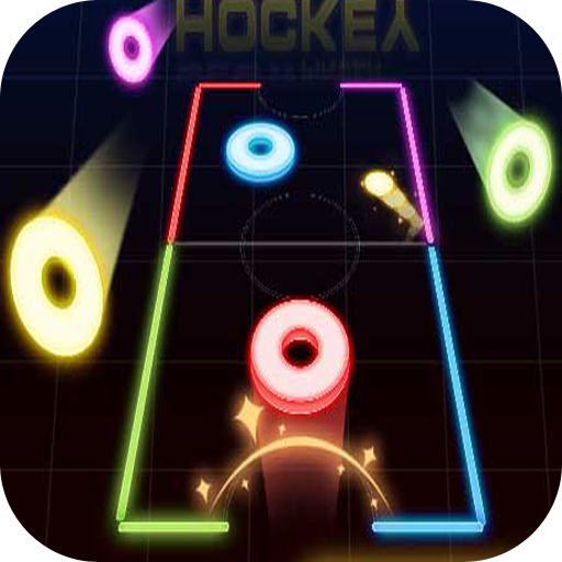 Glow Hockey 20  file APK for Gaming PC/PS3/PS4 Smart TV