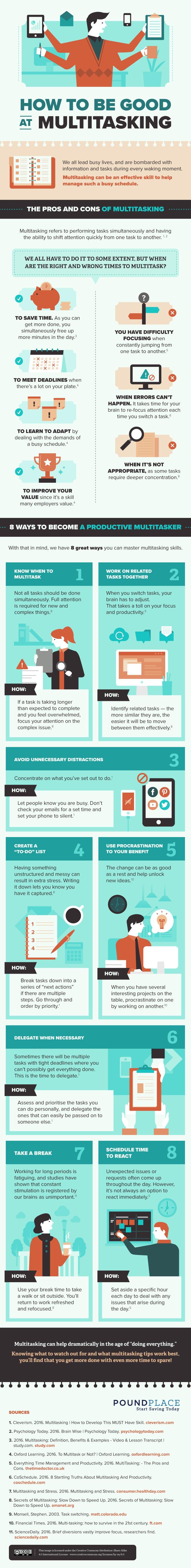 8 maneras de convertirte en un multitasker productivo