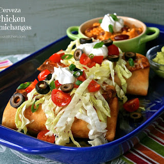 Cerveza Chicken Chimichangas