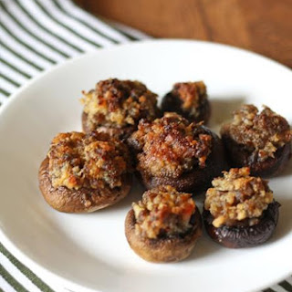 Sausage Stuffed Mushrooms {updated}