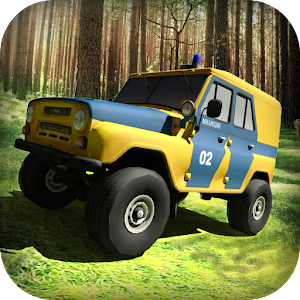 Hill climb UAZ Police for PC and MAC