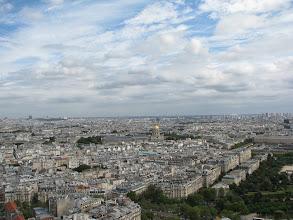Photo: On the Tour Eiffel, first floor, view towardMusée de l'Armée
