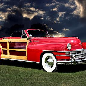 Chrysler Convertible by JEFFREY LORBER - Transportation Automobiles ( chrysler, jeffrey lorber, rust 'n chrome, red car, car, convertible, lorberphoto, woody )