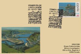 Photo: Matasellos Primer día del sello Villa de Luarca 2001