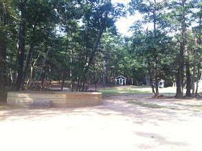 Photo: View from the Juniors Staff Building towards the Juniors Cabin area.