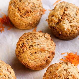 Healthy Banana Carrot Muffins.
